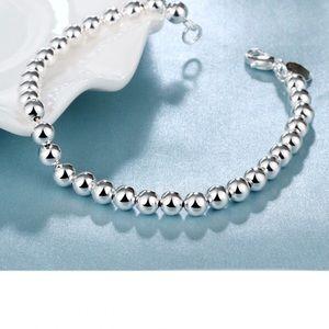Sterling Silver 6mm Beaded Bracelet ➰🆕➰